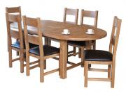 Oak extending oval table