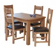 Rectangular Oak Extending Table