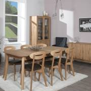 Baltic Furniture Narvik Dining Table Type 12 on Display with Chairs