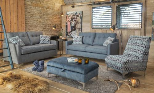 Lexi 3 seater sofa + 2 seater sofabed + accent chair