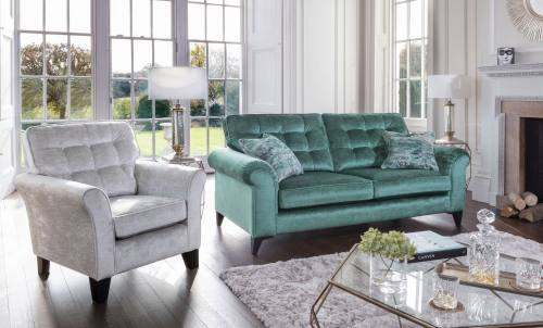 Alstons Jasmine 3 Seater Sofa and Emma Accent Chair