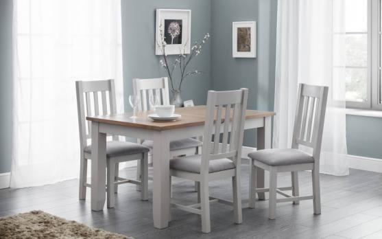 Surprising Richmond Oak Extending Dining Table Set Elephant Grey X 4 Chairs Download Free Architecture Designs Viewormadebymaigaardcom