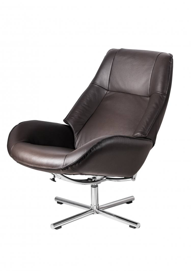 Kebe Bordeaux Swivel Chair in Lido Petrol