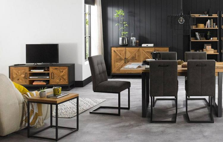 Bentley Designs Indus Rustic Oak Dining Furniture