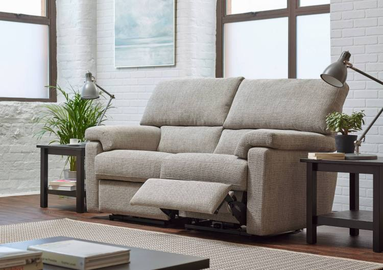 Ashwood Designs Steinbeck 2 Seater Recliner Open on Display