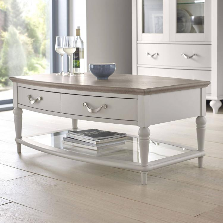 Bentley Designs Montreux Grey Washed Oak & Soft Grey Coffee Table